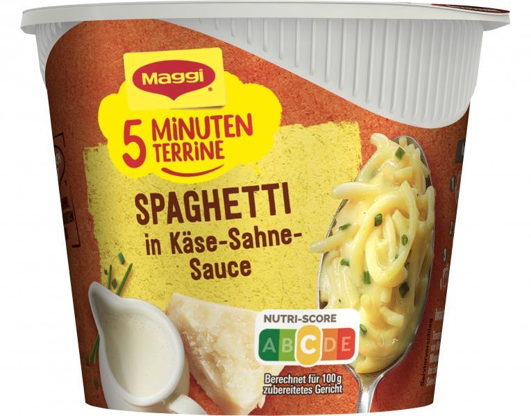 Maggi 5 Minuten Terrine Spaghetti in Käse-Sahne-Sauce