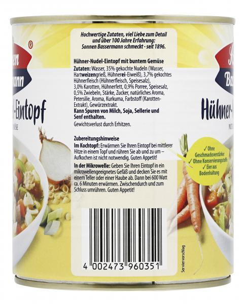 Sonnen Bassermann Hühner Nudel-Eintopf mit buntem Gemüse