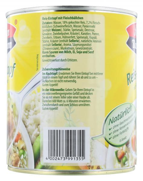 Sonnen Bassermann Reis-Eintopf