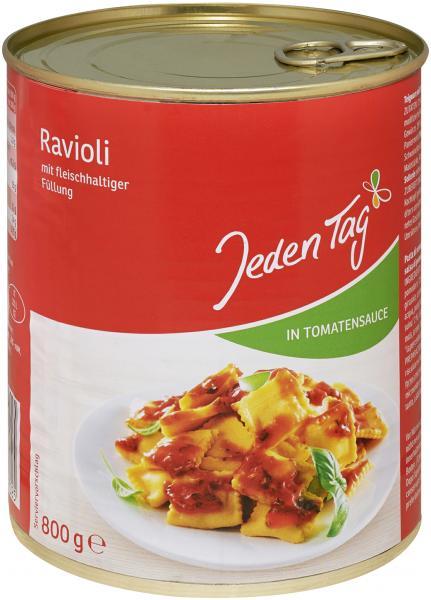 Jeden Tag Ravioli in Tomatensauce