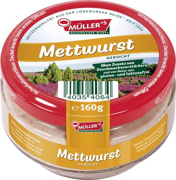 Müller's Mettwurst gekocht