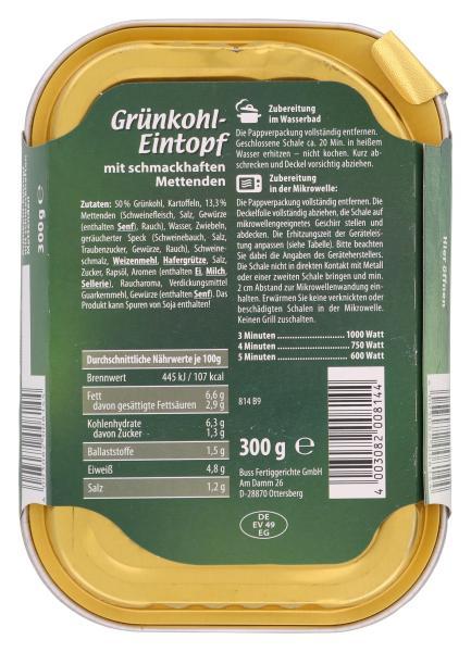 Buss Freizeitmacher Grünkohl-Eintopf