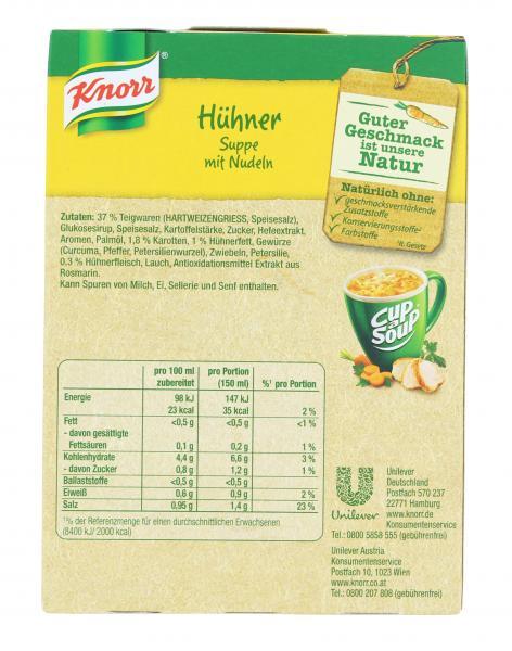 Knorr activ Hühner Suppe mit Nudeln