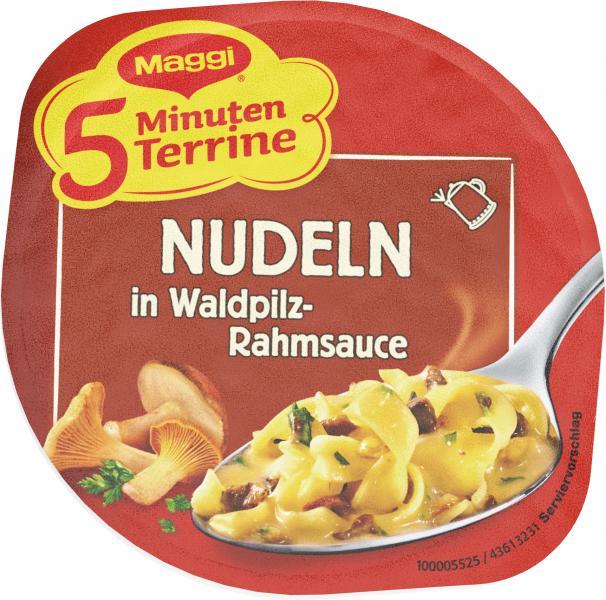 Maggi 5 Minuten Terrine Nudeln in Waldpilzrahmsauce