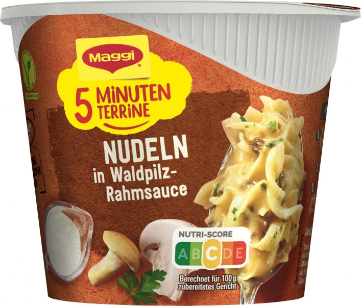 Maggi 5 Minuten Terrine Nudeln in Waldpilz-Rahmsauce