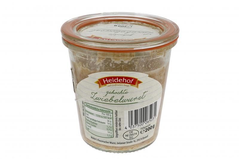 Heidehof Zwiebelwurst gekocht