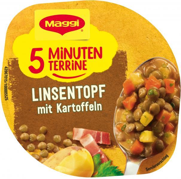 Maggi 5 Minuten Terrine Linsentopf mit Kartoffeln
