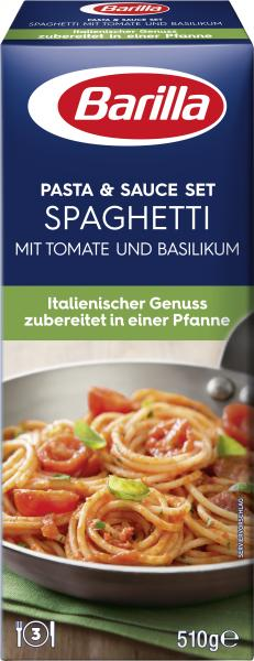 Barilla Pasta & Sauce Set Spaghetti Tomate und Basilikum
