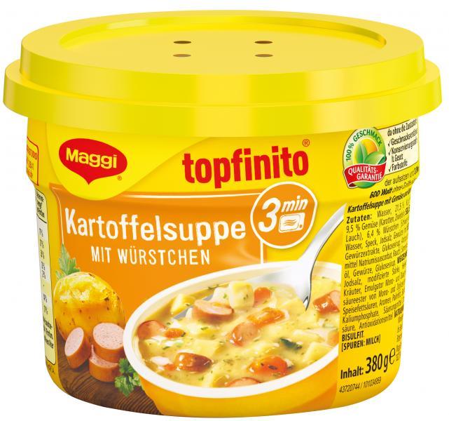 Maggi Topfinito Kartoffelsuppe mit Würstchen Becher