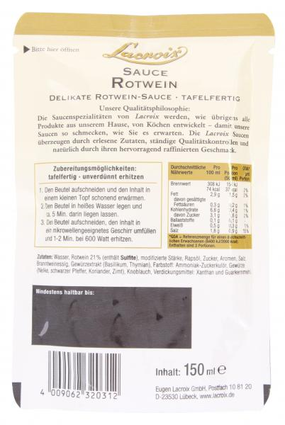 Lacroix Rotwein Sauce