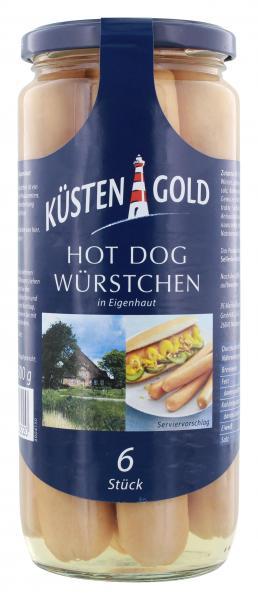 Küstengold Hot Dog Würstchen in Eigenhaut