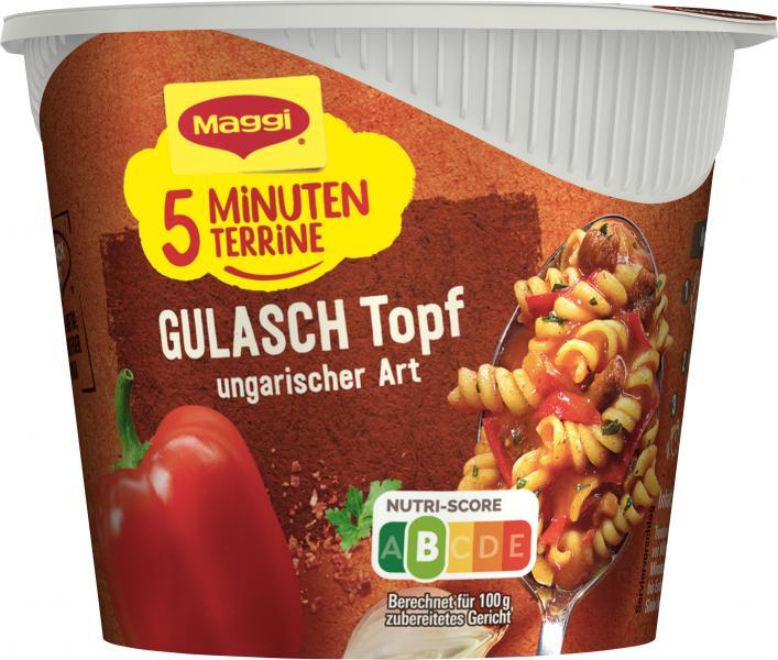 Maggi 5 Minuten Terrine Gulasch Topf ungarischer Art