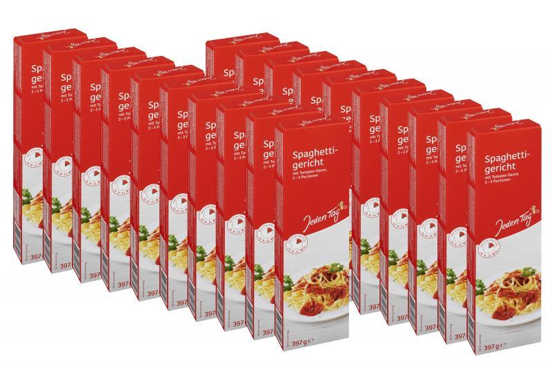 Jeden Tag Spaghetti-Gericht mit Tomaten-Sauce