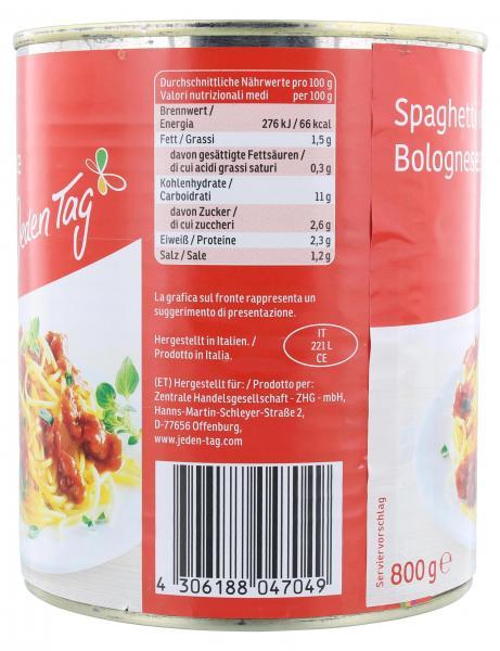 Jeden Tag Spaghetti in Bolognesesauce
