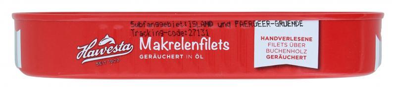 Hawesta Makrelenfilets geräuchert in feinem Pflanzenöl und eigenem Saft