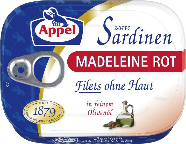 Appel Zarte Sardinen Madeleine Rot
