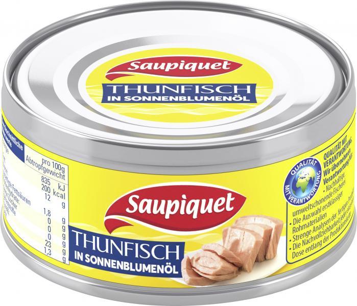 Saupiquet Thunfisch in Sonnenblumenöl