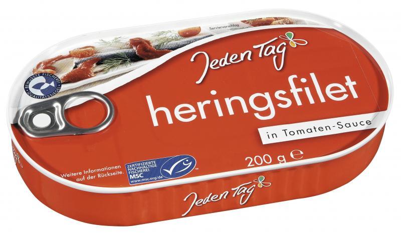 Jeden Tag Heringsfilet in Tomaten-Sauce