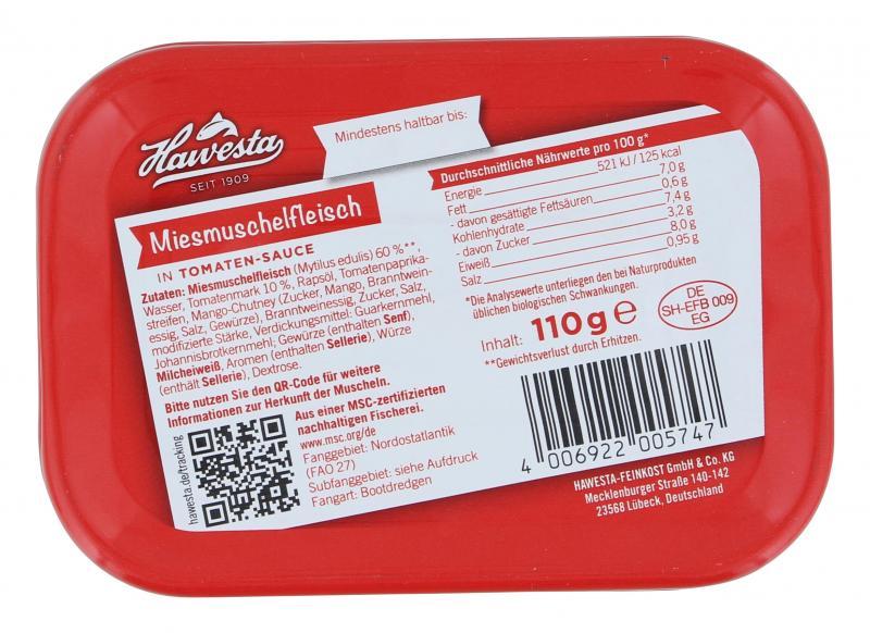 Hawesta Muscheln in Tomaten-Sauce