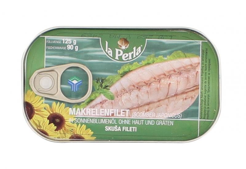 La Perla Makrelenfilet in Sonnenblumenöl ohne Haut und Gräten
