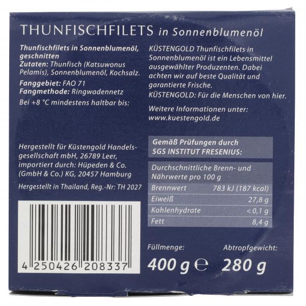 Küstengold Thunfischfilets in Sonnenblumenöl