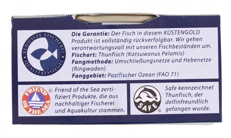 Küstengold Thunfischfilets natur - ohne Öl
