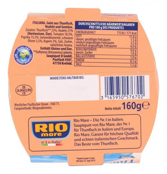 Saupiquet Rio Mare Thunfischsalat Italiana mit Pasta
