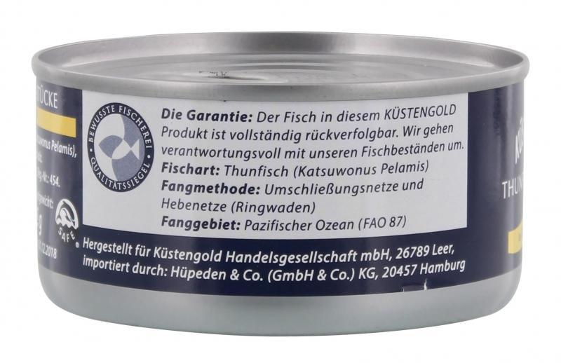 Küstengold Thunfisch-Stücke in Sonnenblumenöl