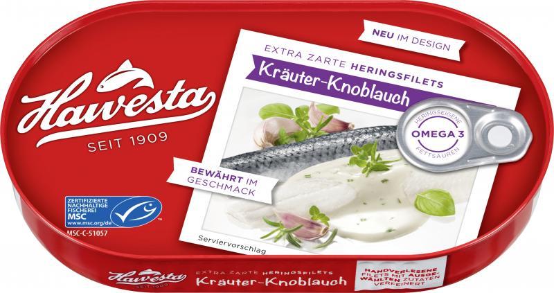 Hawesta Heringsfilets in Kräuter-Knoblauch-Sauce