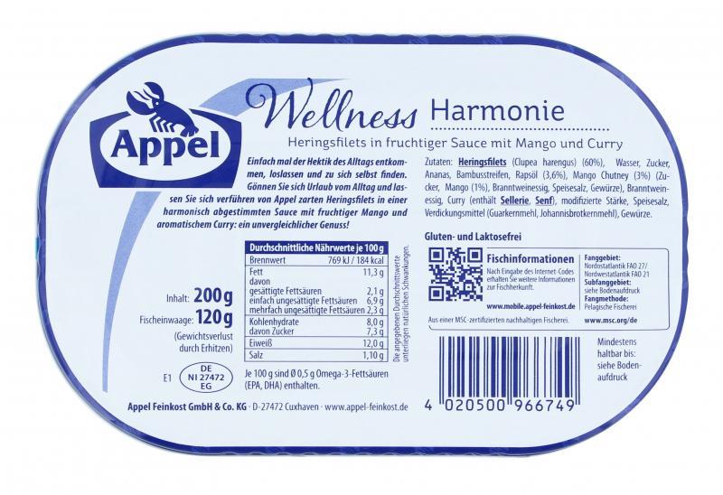Appel Heringsfilets Wellness Harmonie