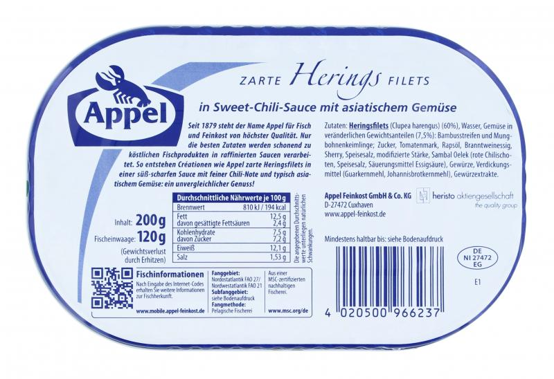 Appel Heringsfilets Sweet-Chili