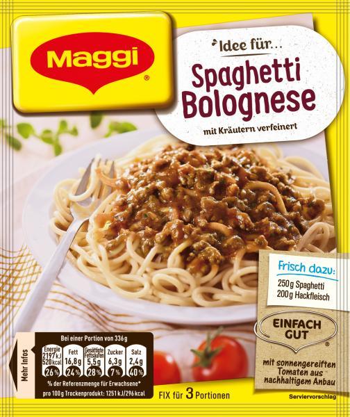 Maggi Idee für Spaghetti Bolognese
