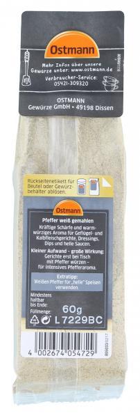 Ostmann Pfeffer weiß gemahlen