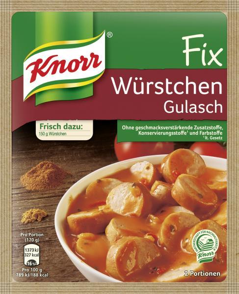 Knorr Fix Würstchen Gulasch