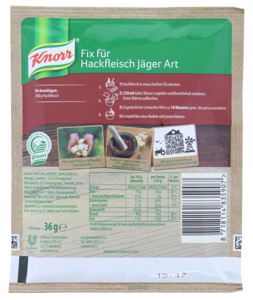 Knorr Fix Hackfleisch Jäger Art