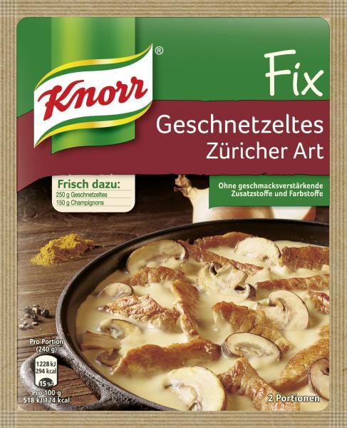 Knorr Fix Geschnetzeltes Züricher Art