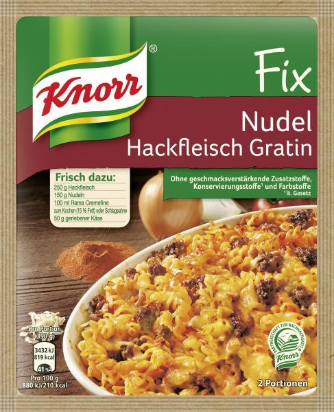 Knorr Fix Nudel-Hackfleisch Gratin