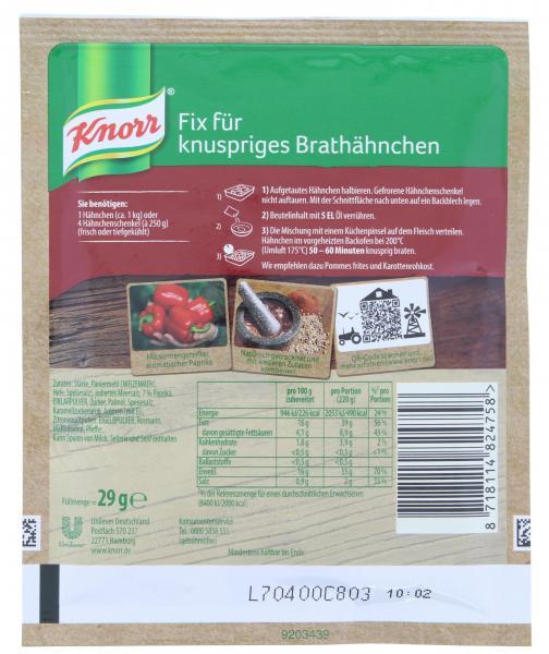 Knorr Fix Knuspriges Brathähnchen