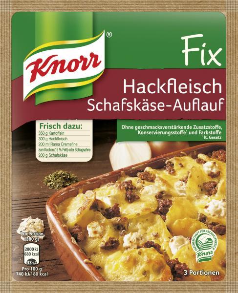 Knorr Fix Hackfleisch Schafskäse-Auflauf
