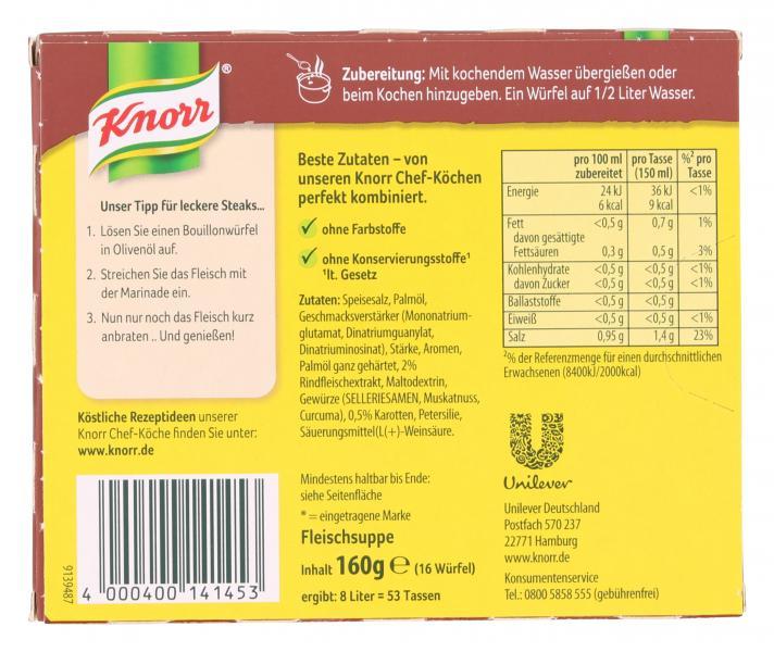 Knorr Fleisch Suppe
