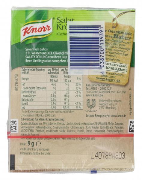 Knorr Salatkrönung Küchenkräuter