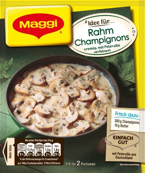 Maggi Idee für Rahm Champignons