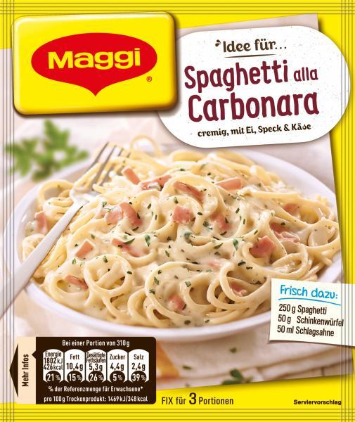 Maggi Idee für Spaghetti alla Carbonara