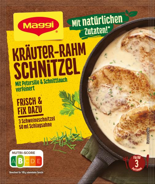 Maggi Fix für Kräuter-Rahm Schnitzel