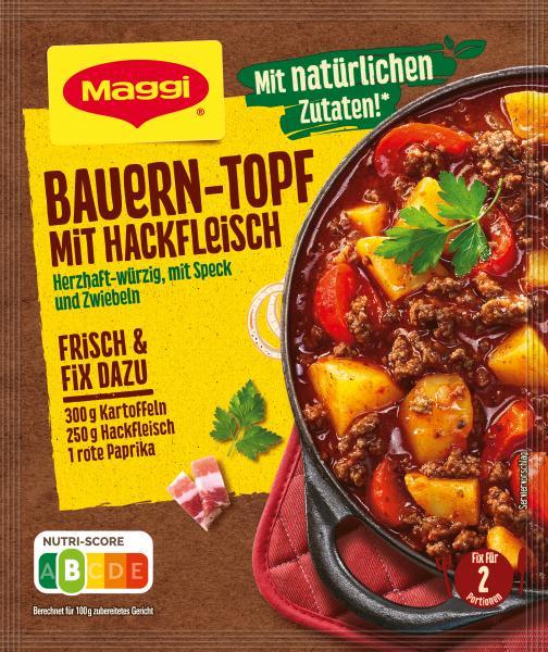Maggi Fix für Bauern-Topf mit Hackfleisch