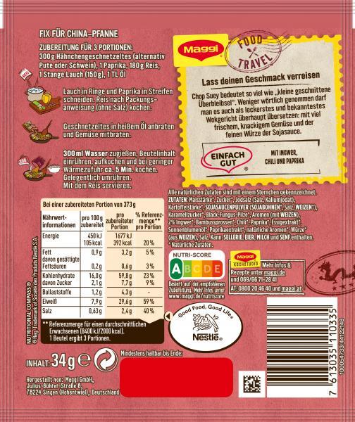 Fix für China-Pfanne Chop Suey