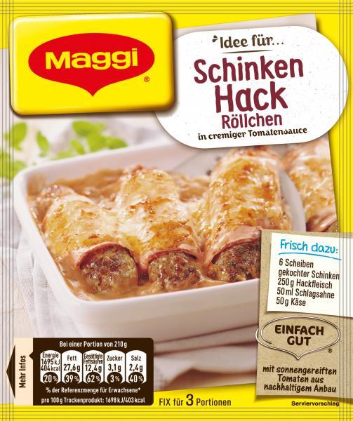 Maggi fix & frisch Schinken-Hack-Röllchen