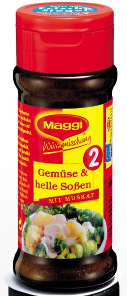 Maggi Würzmischung 2 Gemüse & helle Saucen Streuer