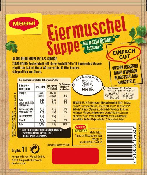 Maggi Guten Appetit, Eiermuschelsuppe