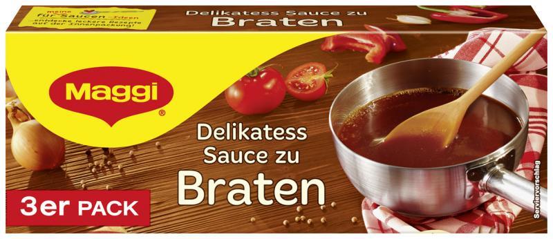 Maggi Delikatess Sauce zu Braten, 3er Pack, ergibt 3 x 250 ml